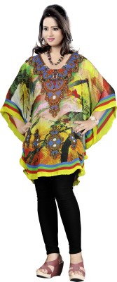 HSFS Printed Poly Georget Womens Kaftan