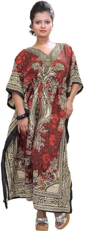 G S Floral Print viscose Women's Kaftan