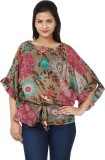 Tops and Tunics Floral Print Polyester W...
