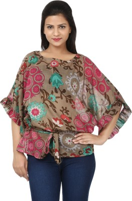 Tops and Tunics Floral Print Polyester Women's Kaftan