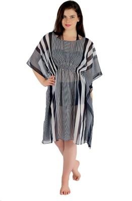 Holidae Striped Poly Georgette Women's Kaftan