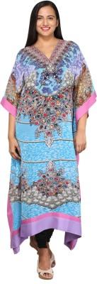 Talinum Printed Polyester Women's Kaftan