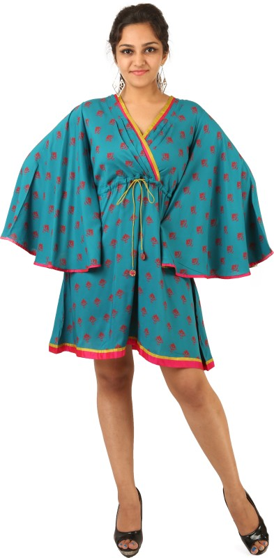 Indricka Printed 100% Modal Sustainable Bio-Silk, Trimmed With Pure Silk. Women's Kaftan