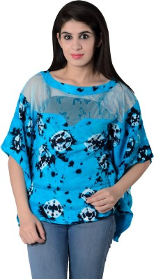 House of Tantrums Printed Rayon, Net Women's Kaftan