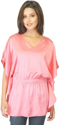 East West Solid Casual Women,s Kaftan