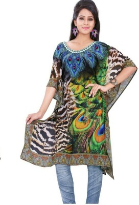 Dream Fashion Printed Fine Weightless Georgette Women's Kaftan