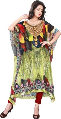 Trendif Graphic Print Poly Weightless Womens Kaftan