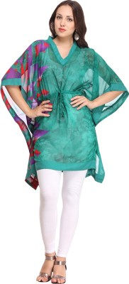 Pehraan Printed Polyester Women,s Kaftan