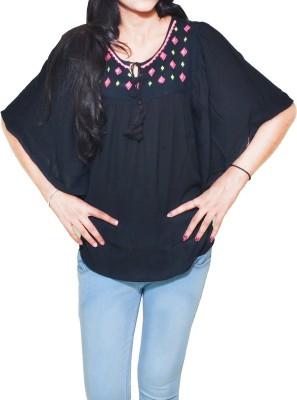 Mitra Creations Embroidered Rayon Crepe Women's Kaftan