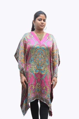 Sharleez Paisley Satin Women,s Kaftan