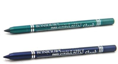 Bonjour Paris Single Apply 47201639 Glazed Green-Blue Kajal 2.4 g