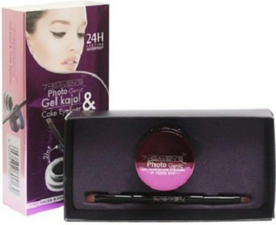 OSGCrafters 7 Heavens Photo Genic 2 In 1 Waterproof Gel Kajal And Cake Eyeliner 24 Hours 7 g