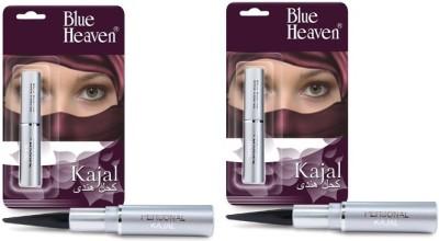 Blue Heaven Personal Kajal( Set of 2 Pc) 1.5 g(Black)