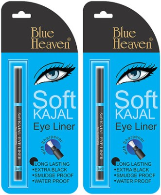 Blue Heaven Soft Kajal Eyeliner ( Set of 2 Pc ) 0.3 g