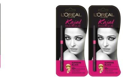L,Oreal Paris Supreme Black 0.70 g (pack of 2) 0.70 g
