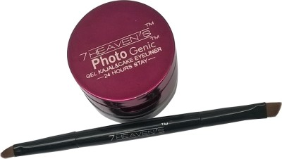 Brndey 7 Heaven,S Photogenic Gel Kajal & Cake Eyeliner Smudge Proof 7 g