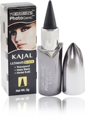 7 Heaven's PHOTO GENIC ULTIMATE BLACK KAJAL 3 g