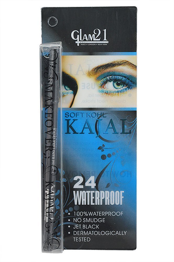 Glam 21 24WaterproofMakeover Kajal 1.5 g(Black)
