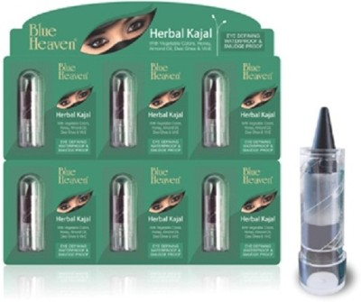 Blue Heaven Mini Herbal Kajal( Set of 6 Pc ) 1.25 g