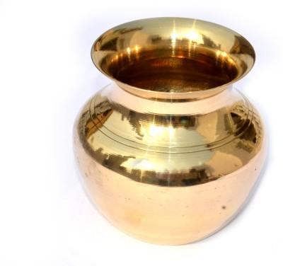 SKM Lota Paragi Brass Kalash(Height: 3.9 inch, Gold)