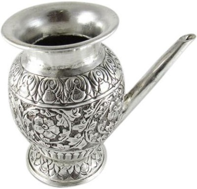 GoldGiftIdeas Silver Plated Kalash(Height: 4 inch, Silver)