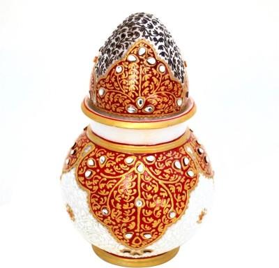 Stylla Shoppers KUNDAN KALASH WITH NARIYAL Marble Kalash(Height: 4.75 inch, Multicolor)