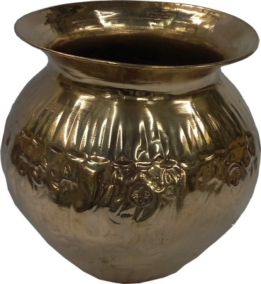 swadesibuyzzar Embossed Copper Lota Light Weight 12x12x11.5 cm Copper Kalash(Height: 4.5 inch, Brown)
