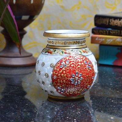 eCraftIndia Hand Painted Marble Kalash
