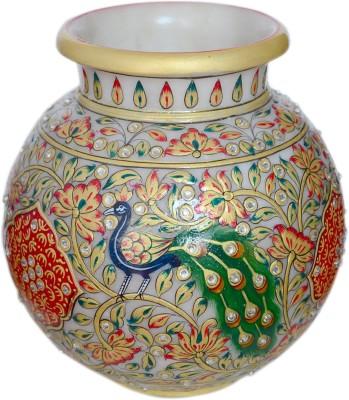 Unicorn Handicrafts Distinguished Marble Kalash(Height: 18 inch, White)
