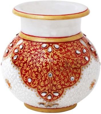 Gaura Art & Crafts Marble Kalash(Maroon)