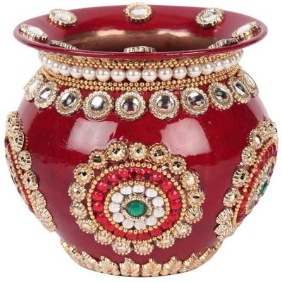 Suman Creations Copper Kalash(Height: 12 inch, Red)