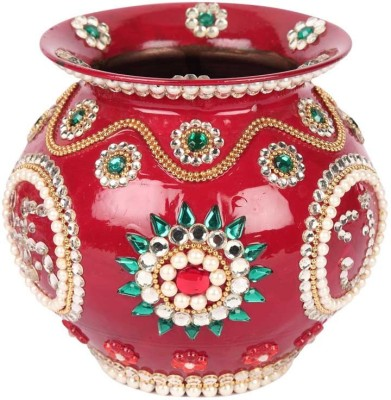 Suman Creations Copper Kalash(Height: 14.5 inch, Red)