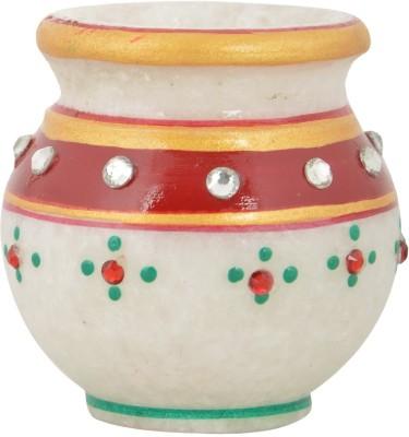 Gaura Art & Crafts GACMSK Stoneware Kalash(Height: 2.8 inch, Multicolor)