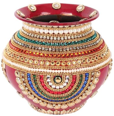 Suman Creations Copper Kalash(Height: 15.499999999999998 inch, Red)