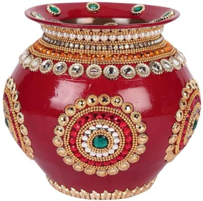 Suman Creations Copper Kalash(Height: 17 inch, Red)