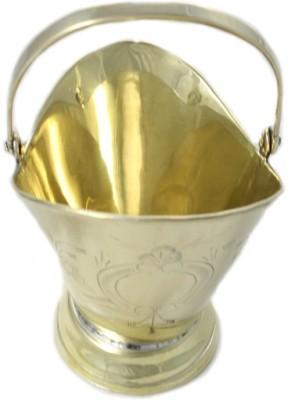Sarvsiddhi Hindu Pooja Vessel Ganga Jali/Panchpatra For Pooja With Handle Brass Kalash(Height: 3.5 inch, Gold)