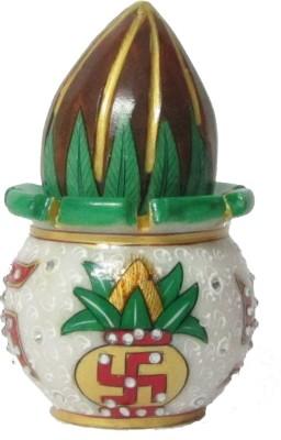 eCraftIndia Coconut Marble Kalash