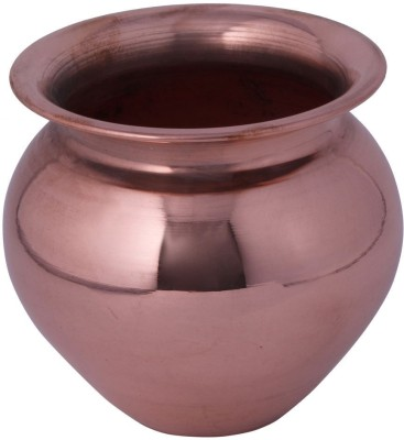 Craft Art India NO Copper Kalash(Height: 11.43 inch, Brown)