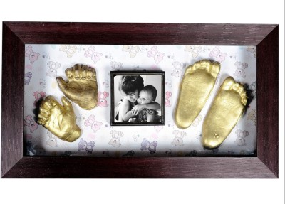 Gravelart Baby Impression Kit - DO-IT-YOURSELF Keepsake(Metallic Gold)