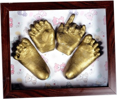 Gravelart Baby Impression Kit - DO-IT-YOURSELF Keepsake(Dull Metallic Gold)