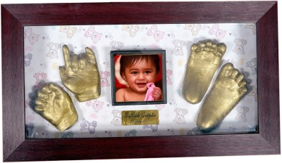 Gravelart Personalized Baby Impression Kit - DO-IT-YOURSELF Keepsake(Dull metallic gold)