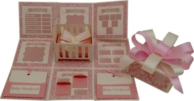Crack of Dawn Crafts Baby Girl Explosion Box Keepsake
