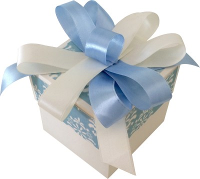 Crack of Dawn Crafts Baby Boy Explosion Box Keepsake(Blue)