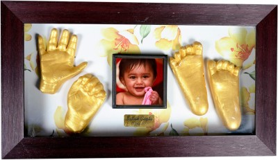 Gravelart Personalized Baby Impression Kit - DO-IT-YOURSELF Keepsake(Golden)