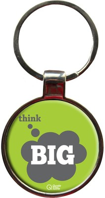QuoteSutra Think Big Inspiring Quote Metal Key Chain