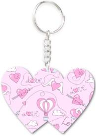 Lolprint 302 Pattern Double Hearts Key Chain
