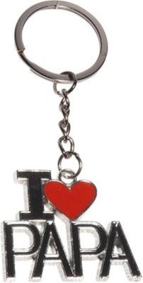Goodbuy I Love Papa Red Colour Heart Locking Key Chain