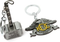 SRPC HARLEY DAVIDSON LOGO & Mjolnir Thor Hammer Pendant Key Chain