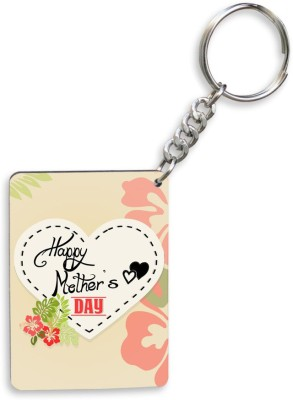 SKY TRENDS GIFT Happy Mother's Day Multi Color Gifts For Mom Wooden Circle Key Chain