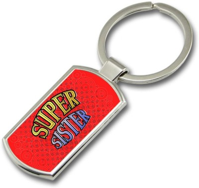 SKY TRENDS GIFT Super Sister Metal Rectangle Key Chain